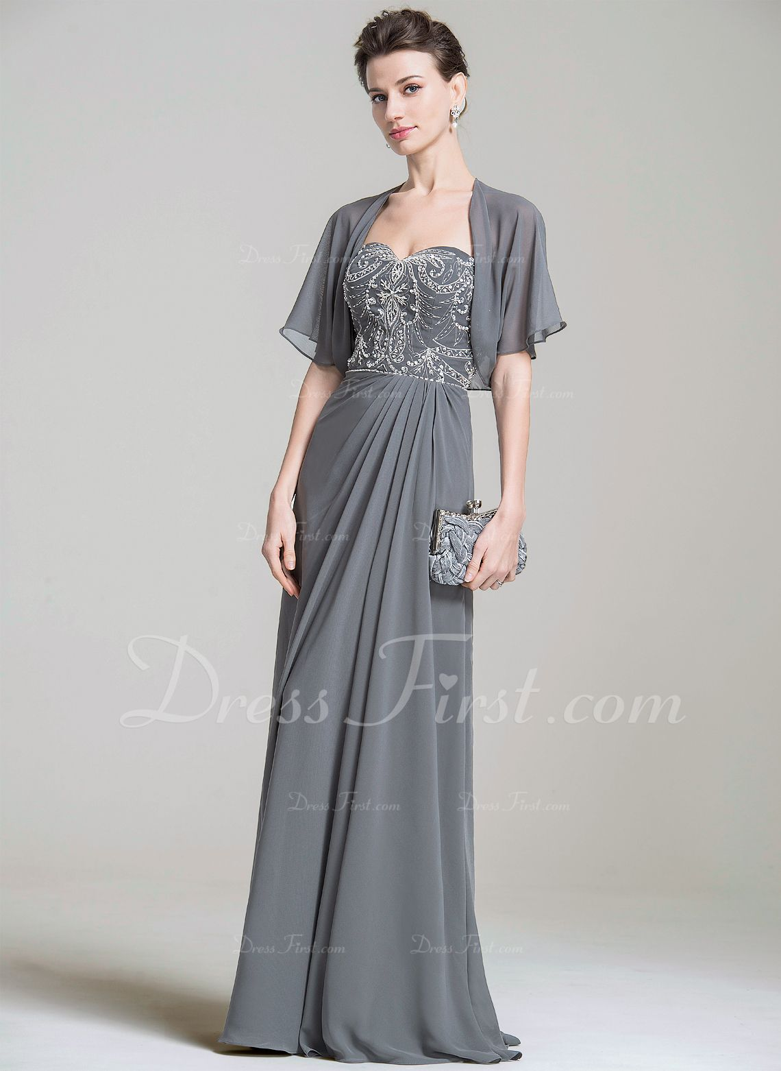 69af45218c Short Sleeve Chiffon Special Occasion Wrap (013080280) - Wraps - DressFirst