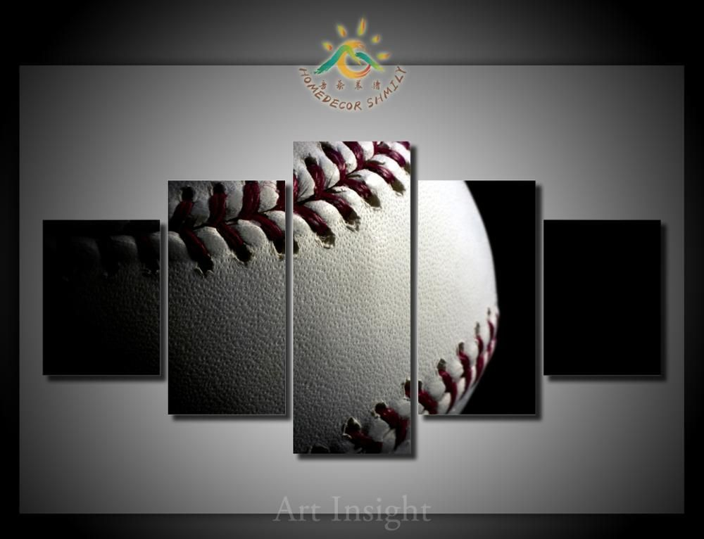 Online Shop 5 Pieces Set Baseball Modern Wall Art For Decor Home Decoration Picture Paint On Canvas Prints Living Room