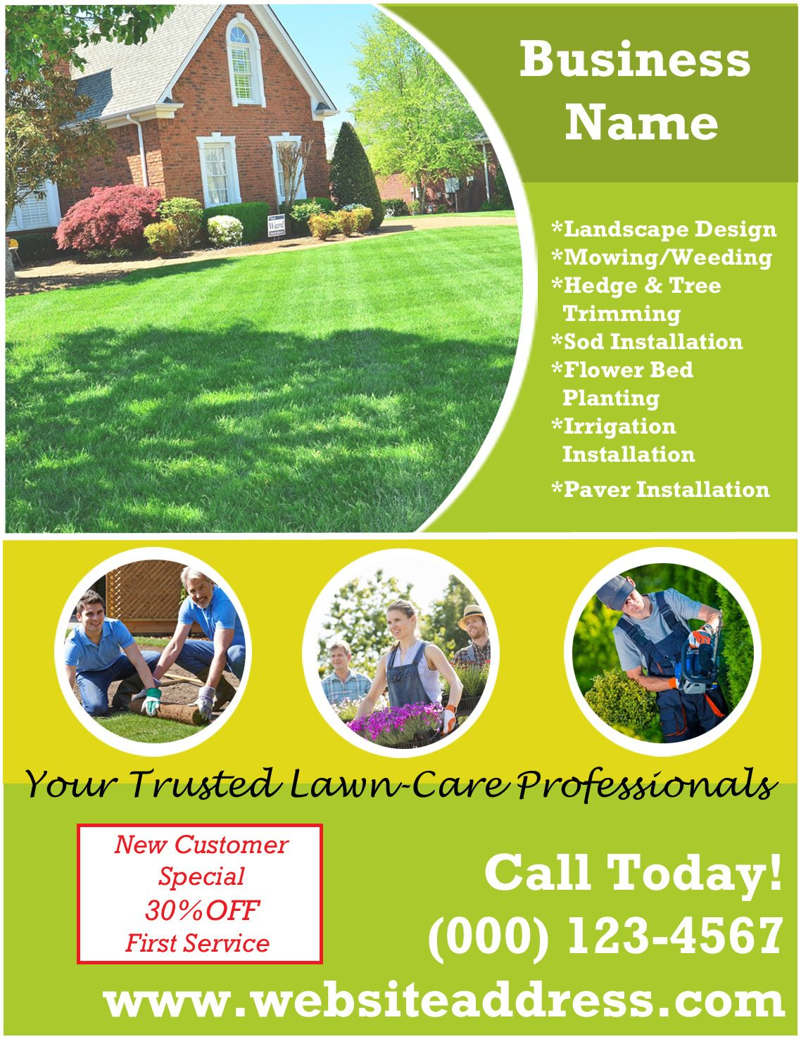 Landscaping Ad 2 Garden Services How To Install Pavers Sod