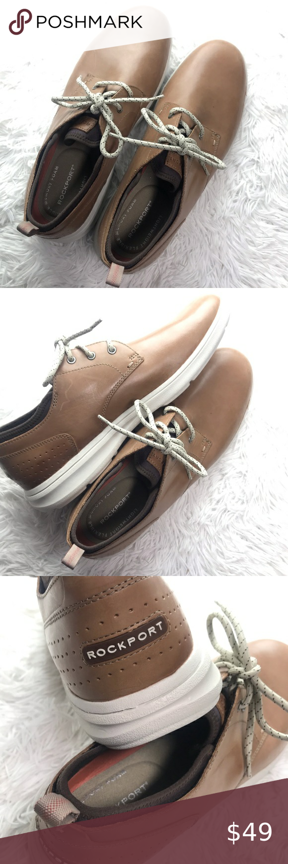 Rockport Memory foam shoes Leather Tie