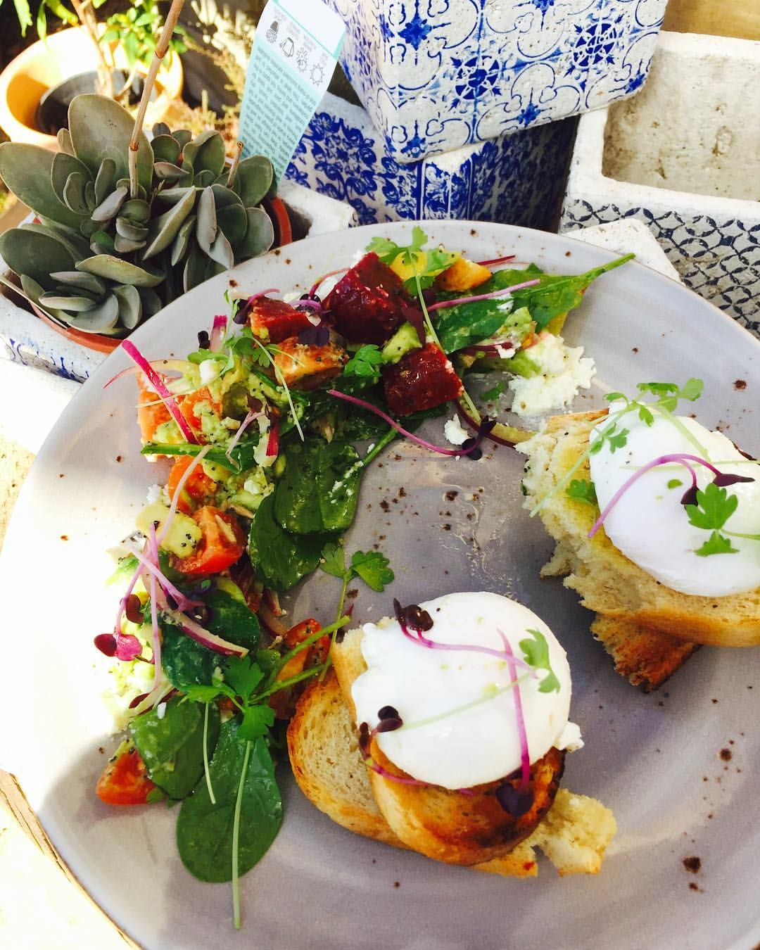 Bright and beautiful breakfast at The Mayfield Kitchen
