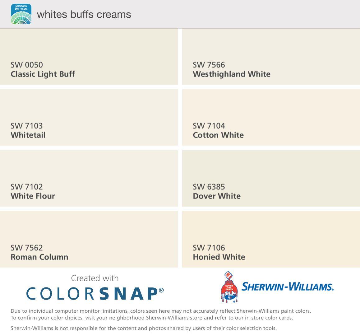 Classic light buff whitetail white flour roman column for Sherwin williams cotton white