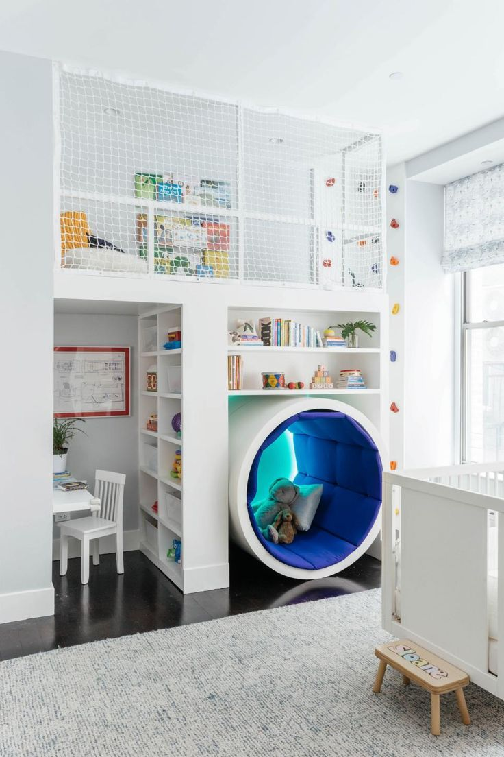 Kid-Tastic Spaces: Playroom With Tunnel + Climbing Wall