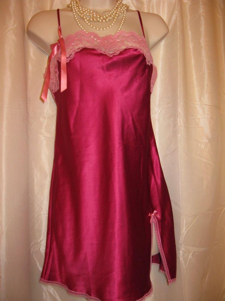 935444c3d93f Ladies Glam and Sparkle Sale Victoria Secret Purple Satin Chemise XS | eBay