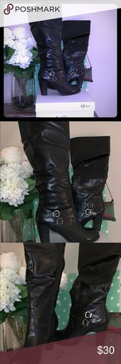 Style  Co Black Knee High Boots with Box Style  co worn once out of the house