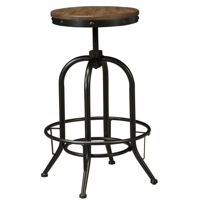 Doonesbury Adjustable Height Swivel Bar Stool