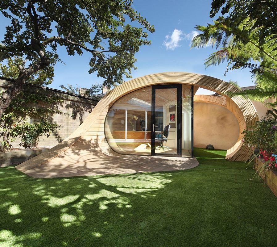 Wie ein spektakulärer Holzpavillon den unscheinbaren Garten hinter - garten reihenhaus