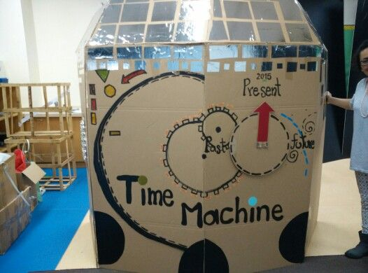 travel craft ideas cardboard time machine for craft 3136
