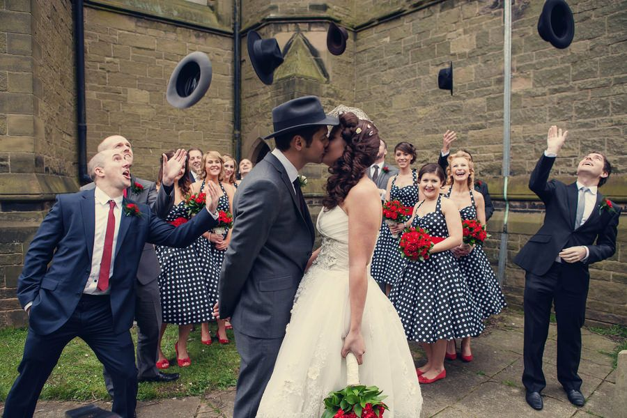 Claire And Jims 1950s American Gangster Themed Wedding By Ynation