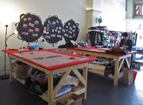 Custom Made Sewing Tables At Made Sewing Studio Near Seattle . Sorry I  Missed This Place When I Was In Seattle.