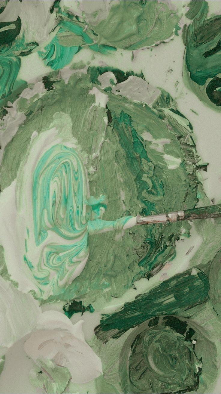 Meet Me In The Hallway In 2020 Mint Green Aesthetic Green Aesthetic Green Wallpaper