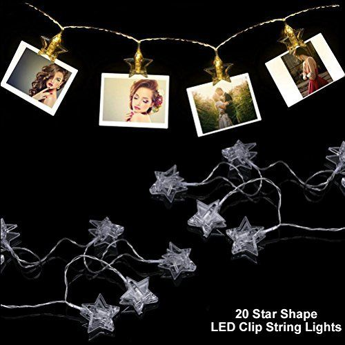 LED String Lights 20 LED photo clip String lights Battery Operated