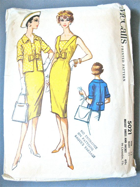 Vintage 1950s McCall's 5021 Vintage Sewing Misses' by Fancywork