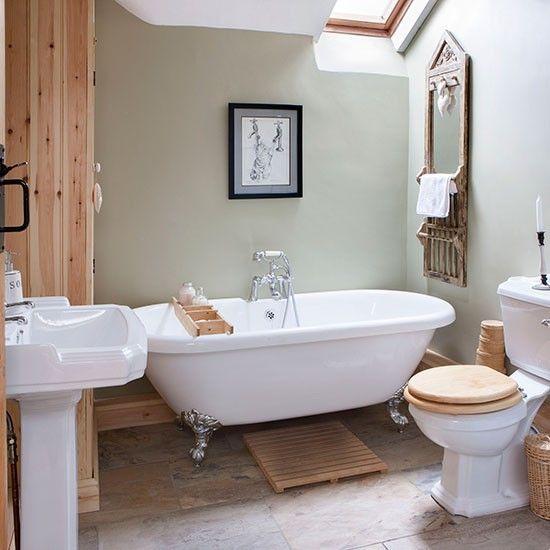 Neutral Bathroom With A Pop Of Colour Traditional Bathroom Ideas 10 Of The Best Housetohome Co Uk Fabulous Bathrooms In 2019 Traditional Bathroom Bathroom Bathroom Shower Curtains