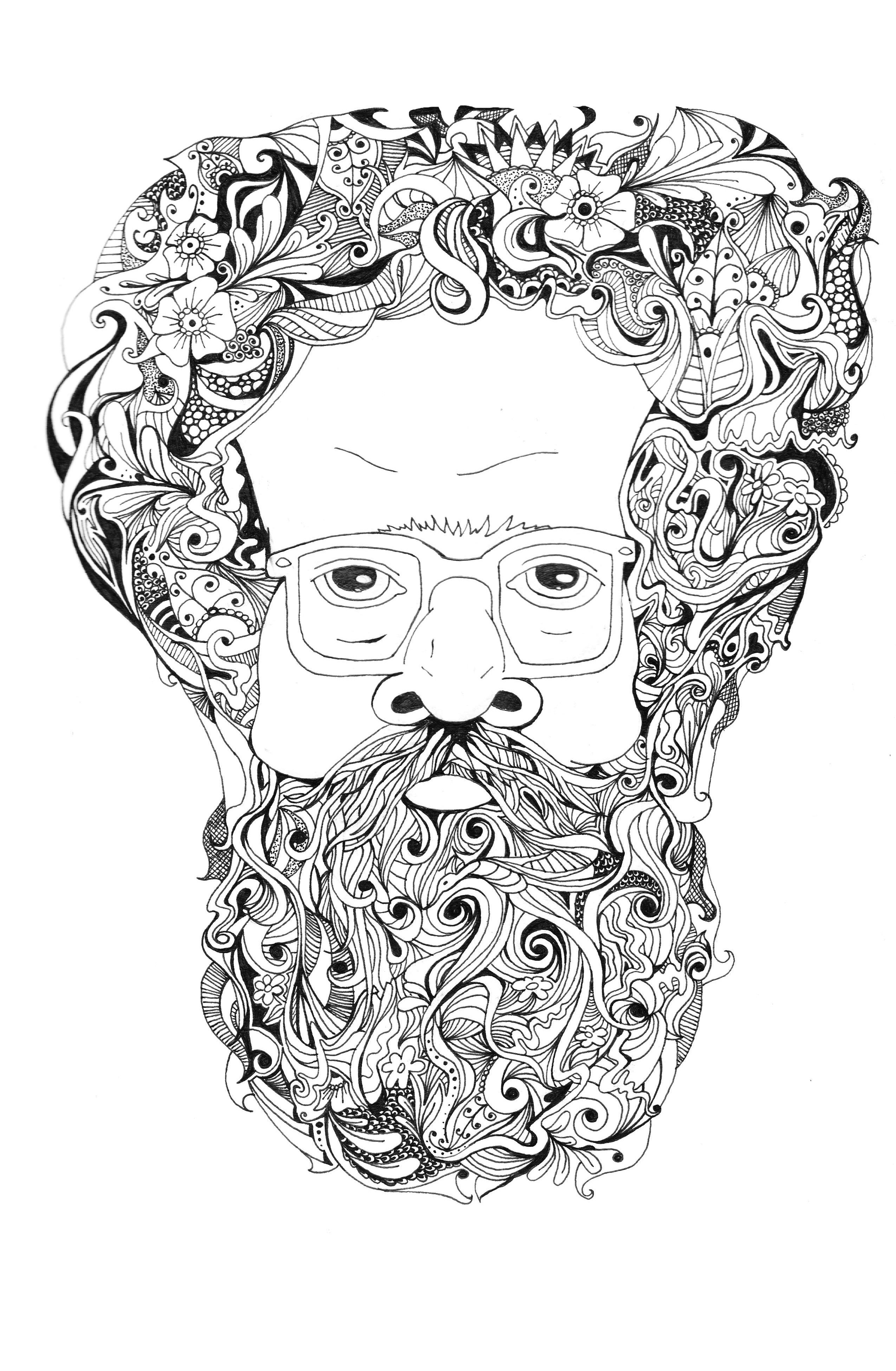 Illustration Beard Wallpapers HD Free Wallpaper