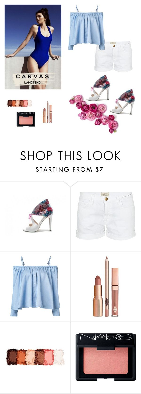 """Complementos ideales para este verano"" by missgarciashoes on Polyvore featuring moda, Current/Elliott, Sandy Liang, Lands' End, Dolce Vita, NYX y NARS Cosmetics"