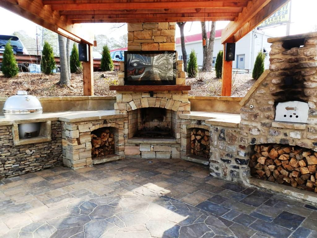 Beautiful Outdoor Pizza Oven For Outdoor Living Space Ideas: Patio Cover And Outdooru2026