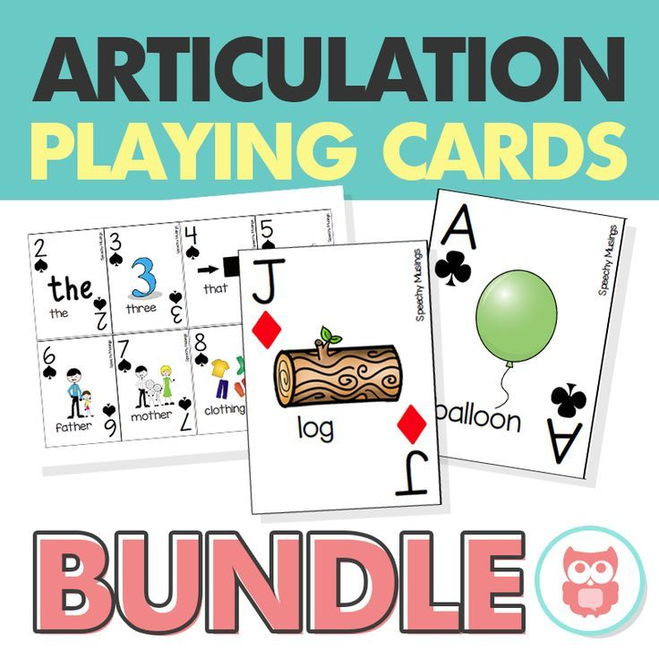 Make your own articulation therapy playing cards with this bundle! This is a perfect speech therapy activity for all ages. From Speechy Musings.