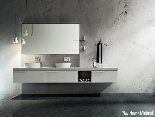 bagno con doppio lavabo: scopri il nuovo arredo bagno moderno play ... - Arredo Bagno Moderno Doppio Lavabo