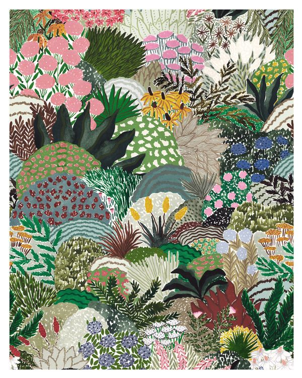 FULL BLOOM by Sara Boccaccini Meadows on Artfully Walls -   18 planting Illustration paintings ideas