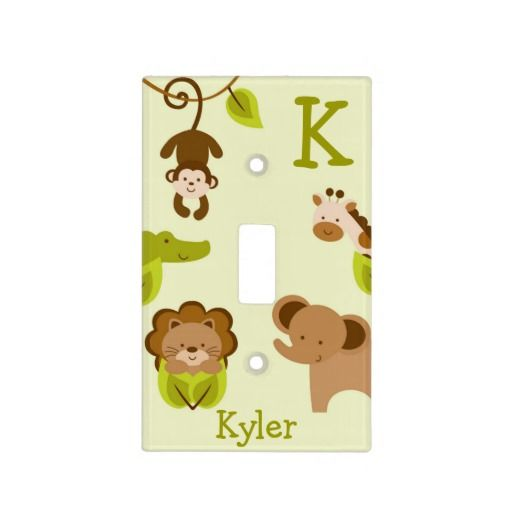 Jungle Animal Light Switch Cover