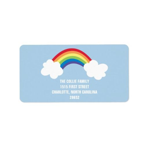 Whimsical Rainbow Address Label MC Paper  For Zazzle Pinterest