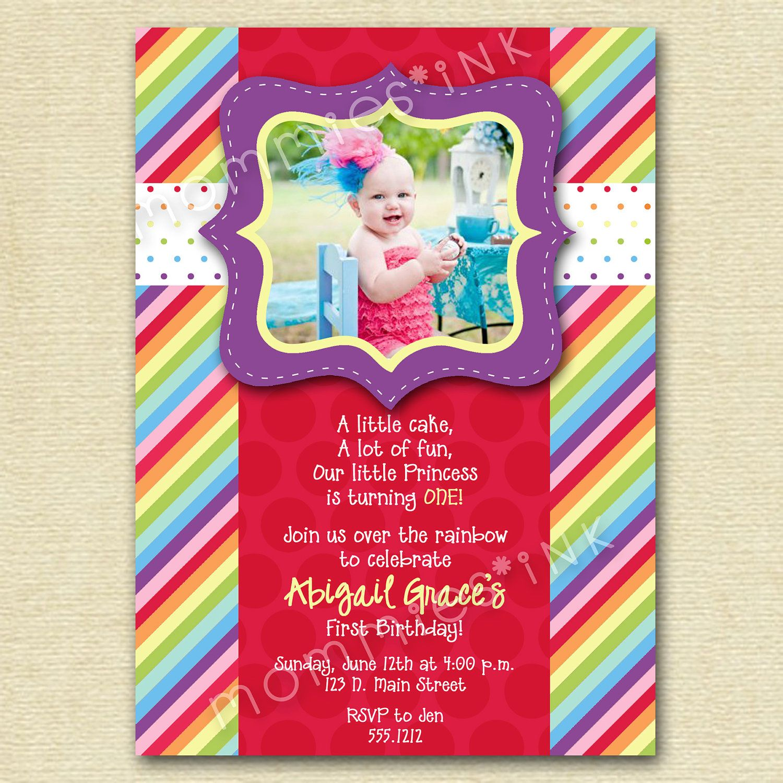 invite | Rainbow birthday party | Pinterest | Rainbows, Rainbow ...