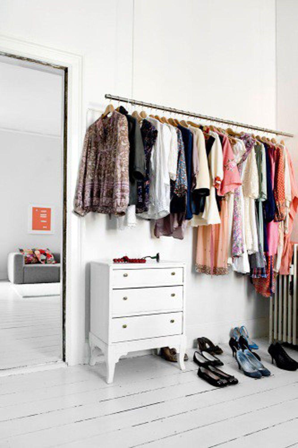 Wardrobe Open Clothes Storage Exposed Closet Closet Apartment
