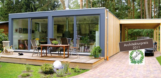 Max haus modulh user flachdach i modern 3 0 tiny for Container haus holz