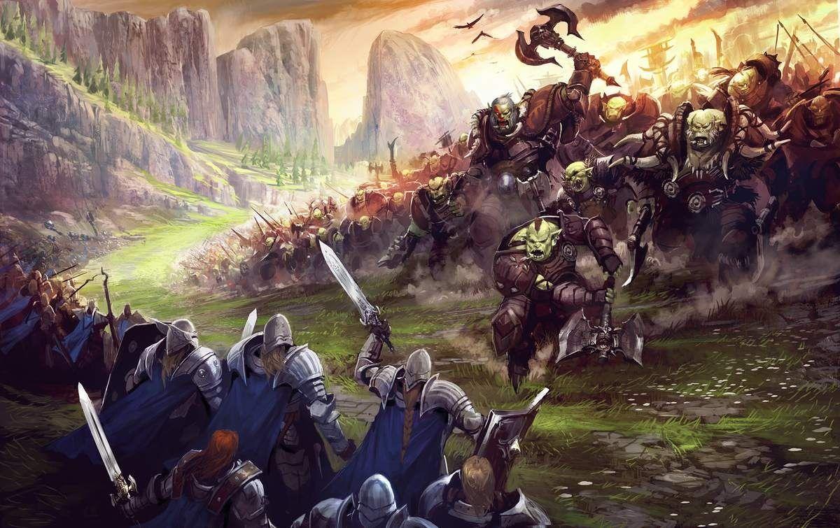 Resultado de imagen para orcs vs humans art