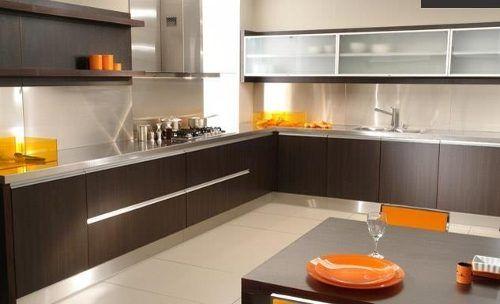 muebles de cocina modernos de melamina | Diseño de interiores ...