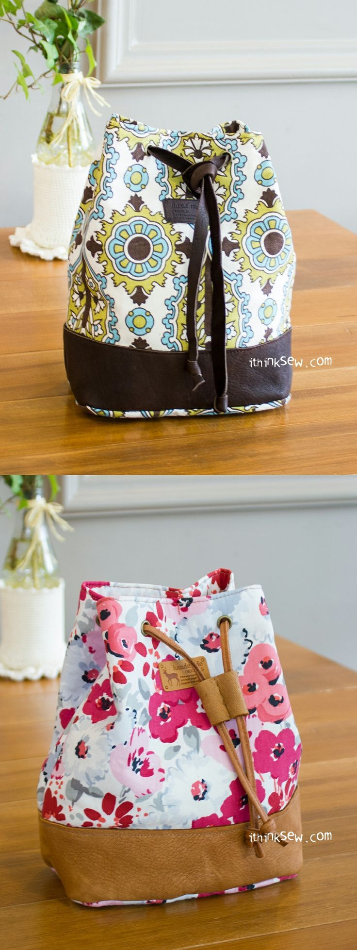 Natalie Bucket Pouch PDF Pattern - http://ithinksew.com | Costura ...