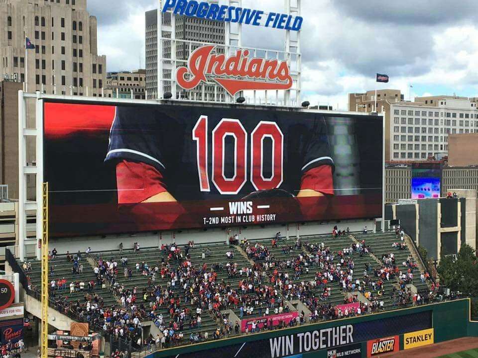 100 wins! (With images) Cleveland indians baseball