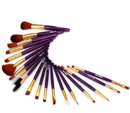 19pcs professional synthetic makeup brush sets with