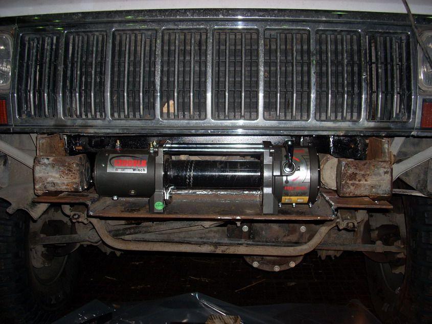 Xj Winch Behind Original Bumper Jeepforum Com Jeep Cherokee Jeep Cherokee Xj Jeep Xj