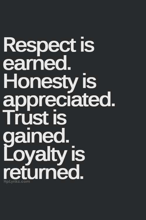 Respect Honesty Trust Loyalty Quotes✍ Pinterest Gorgeous Quotes About Honesty