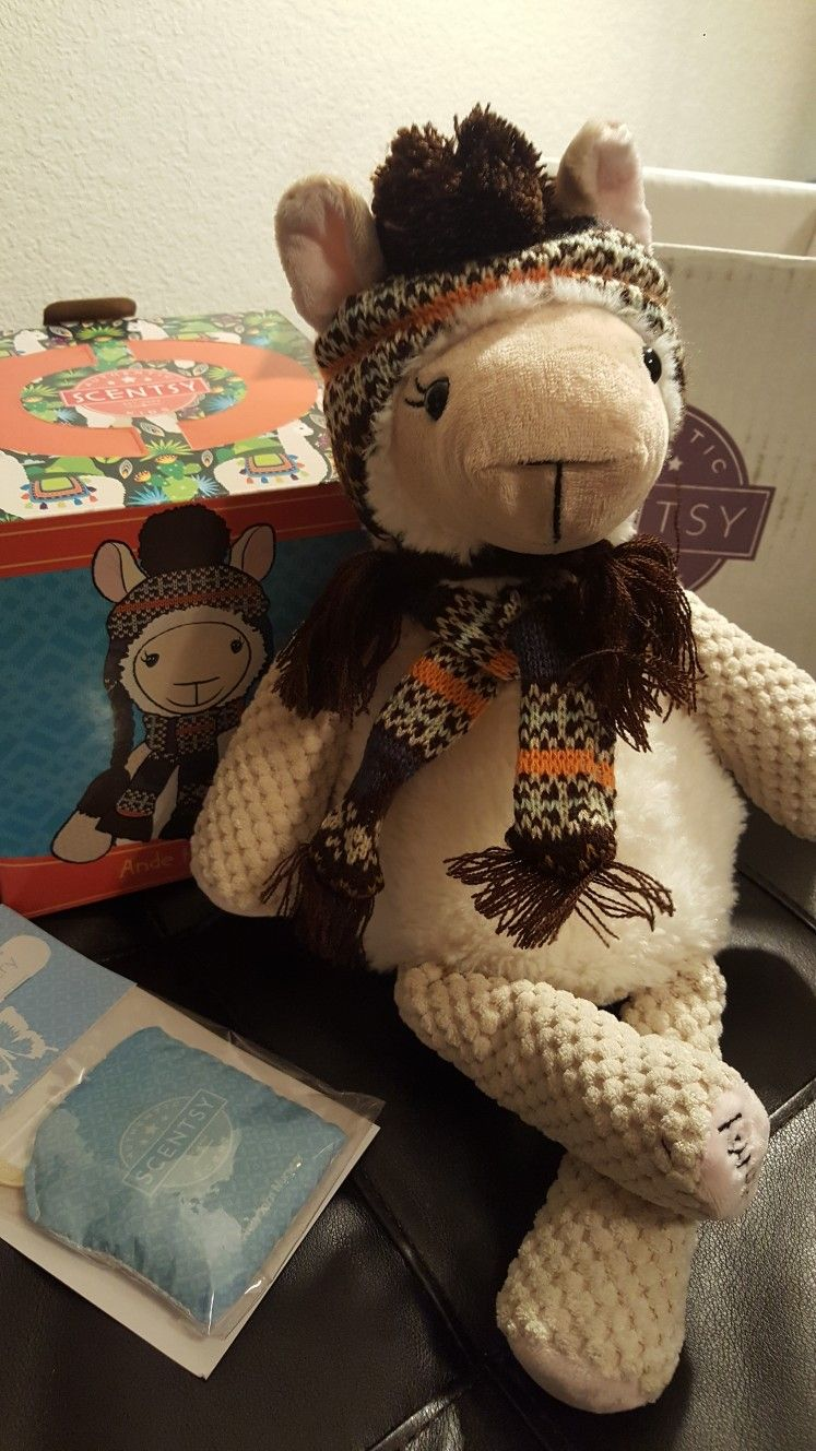 Adorable Stuffed Animal Toy Alpaca With Free Scentsy Scent Pack