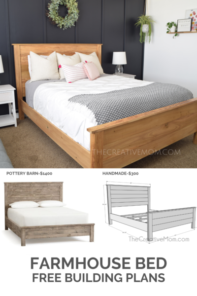 Build A Farmhouse Bed Building Plans In 2020 Farmhouse Bedding Farmhouse Bed Frame Modern Bed Frame