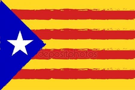 Download Catalonia Flag Red And Yellow Color Stripes Colorful Brush Strokes Painted National F Patriotic Background Texture Painting Brush Strokes Painting