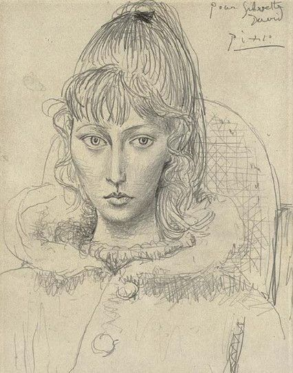 Picasso muse Sylvette Davis,1954 ❌ART : PABLO PICASSO ( 1881 - 1973 ) SPANISH PAINTER AND SCULPTOR / CUBISM : More At FOSTERGINGER At Pinterest ❇️💠✳️⭕️