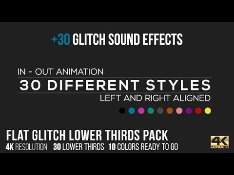 Flat Glitch Lower Thirds 30 Sound Effects