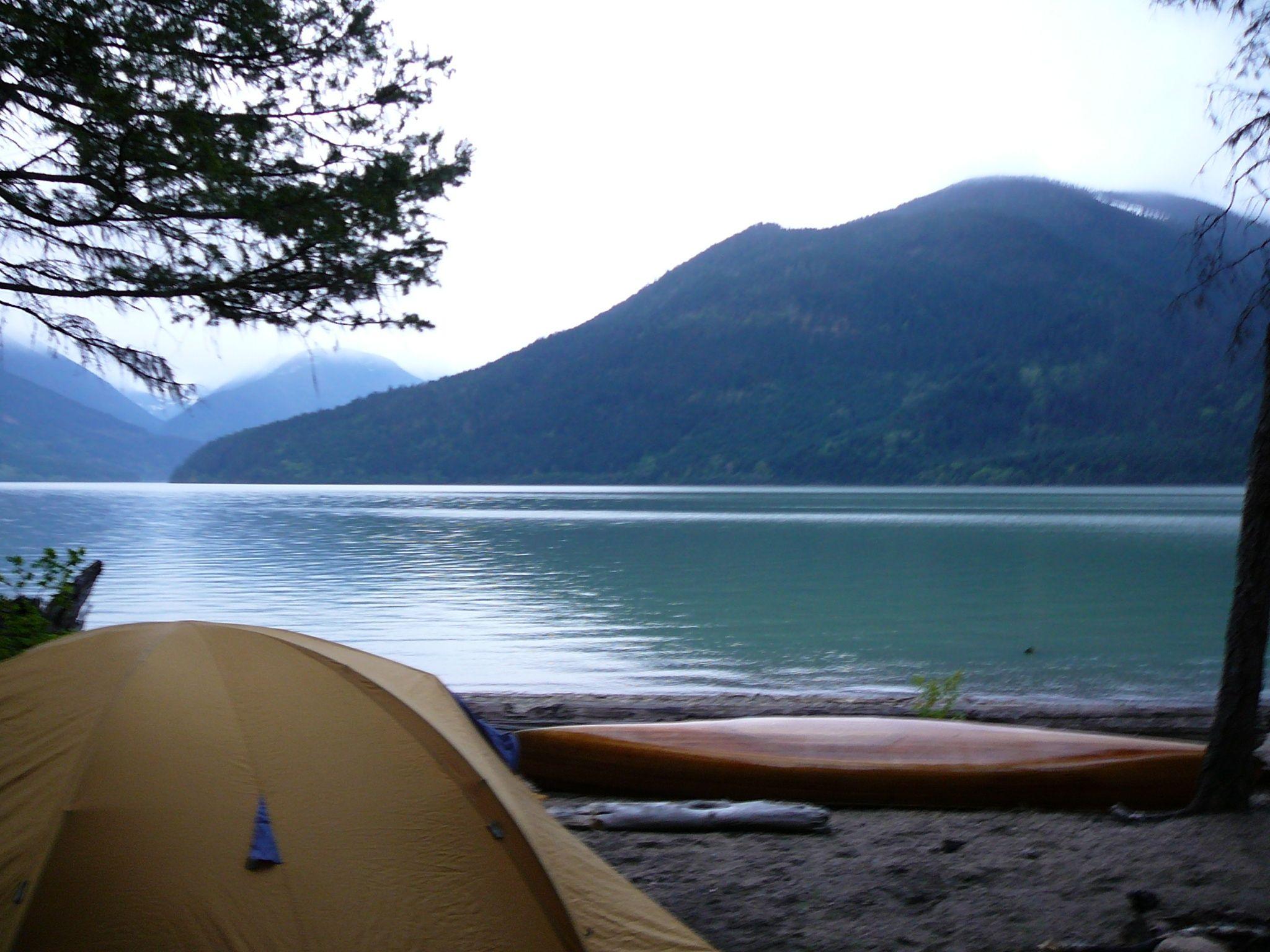 Camping at lillooet lake British Columbia