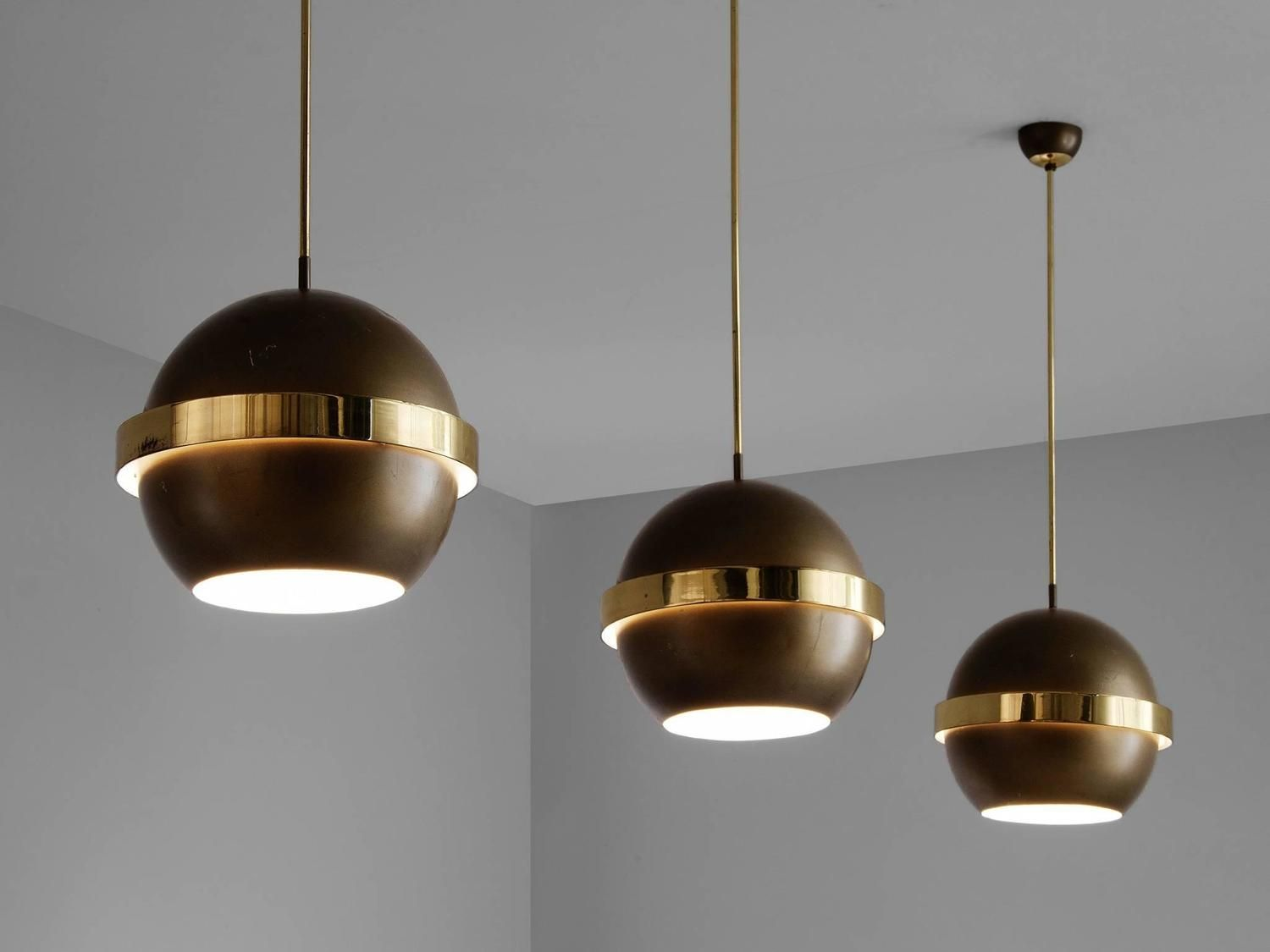 Set Of Three Pendants In Brass Pinterest Third Pendants And - Set of three pendant lights