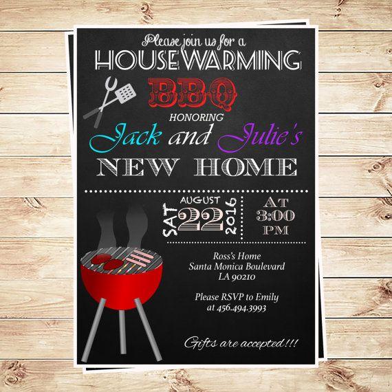 printable bbq party invitation templates chalkboard housewarming bbq invitation new home invite