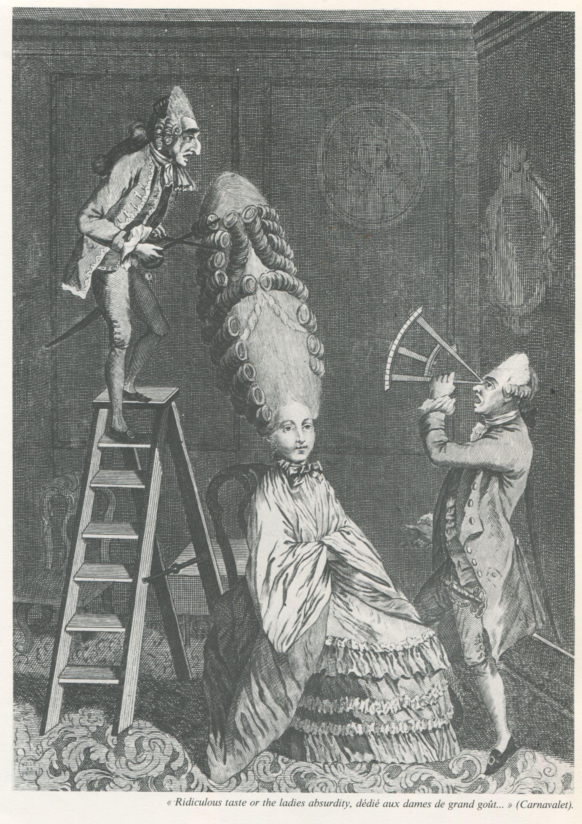 1777 Poufs De Marie Antoinette 1777 1789 Caricature Des Poufs De