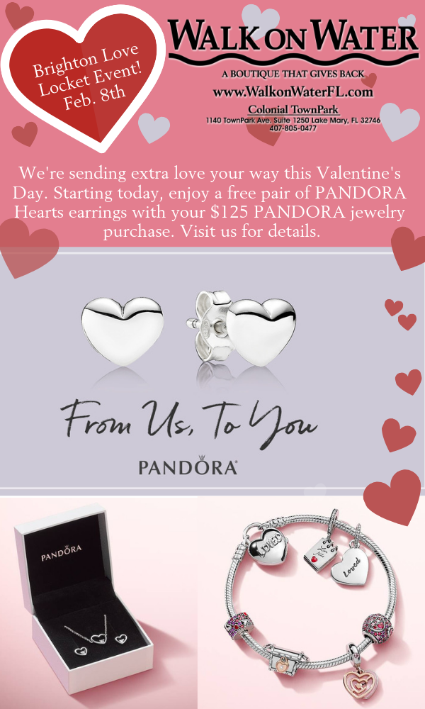 13++ Pandora jewelry gift with purchase information