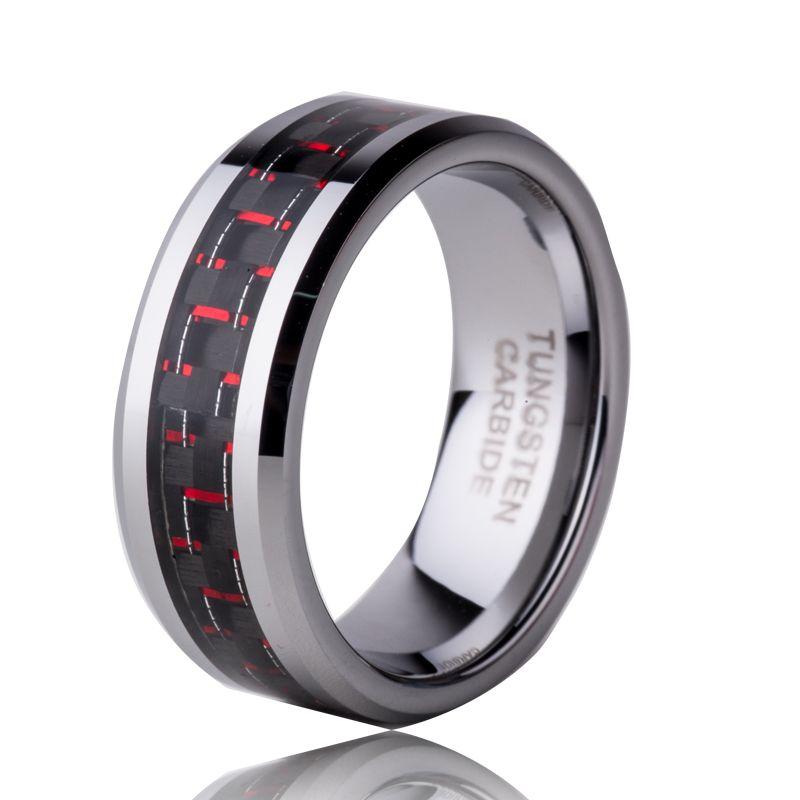 Hot Sale in US Austrilia Russian 8mm Tungsten Carbide Ring Mens