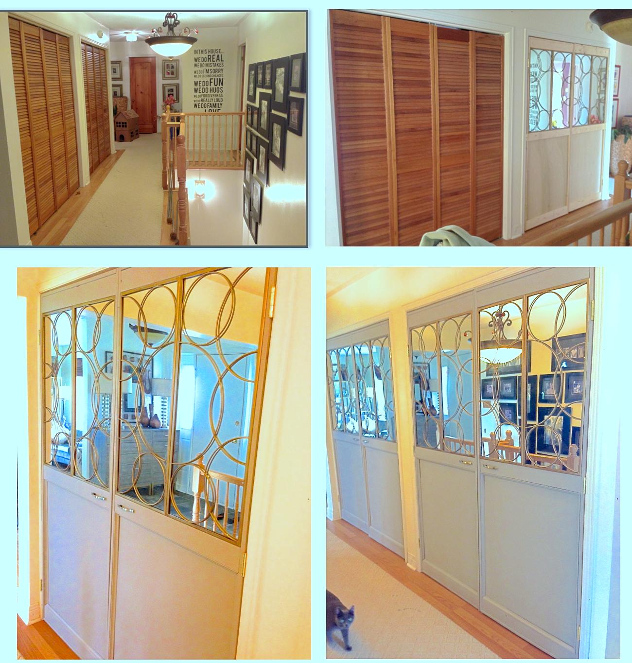 louvered doors makeover, update bifold doors, closet update, closet ...