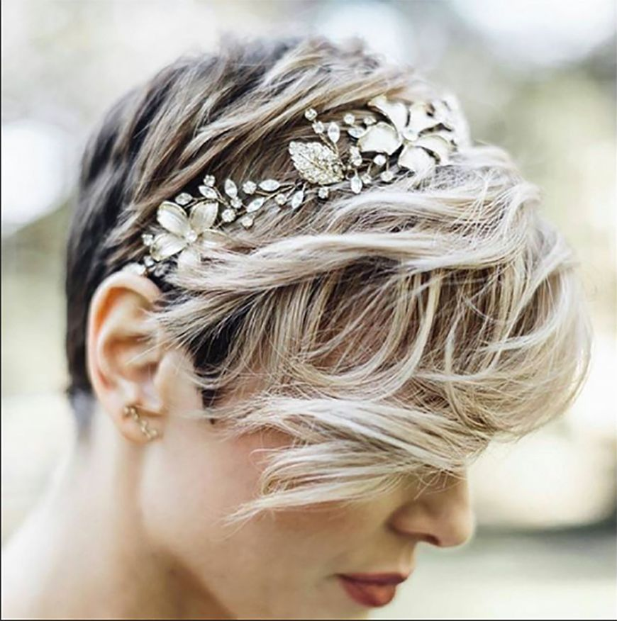 Wedding Ideas By Colour Gold Hair Accessories Pixie Chwv Wedding Hairstyles Hair Styles Hair Styles 2017