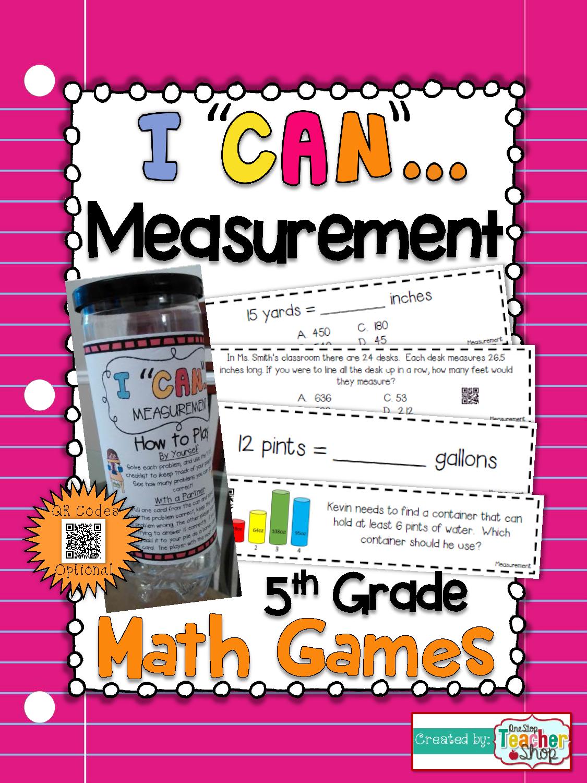 5th Grade Measurement Conversions